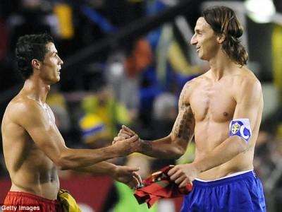 Златан и Роналду сойдутся в первом стыковом матче своих сборных
