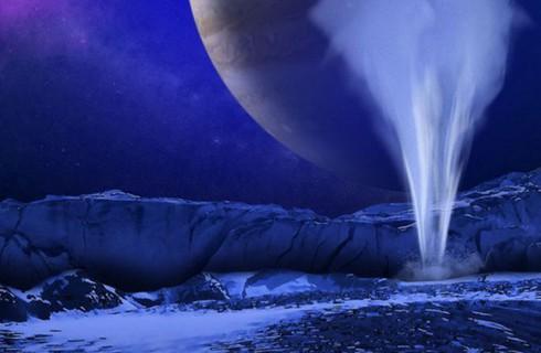 На спутнике Юпитера нашли огромный фонтан воды