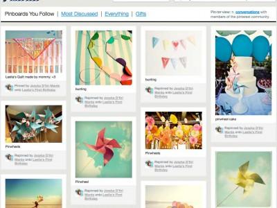 Страница ресурса Pinterest