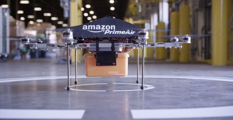 Дроны доставят товары Amazon