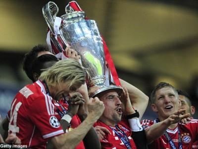 Франк Рибери вместе с «Баварией» победили в Лиге чемпионов