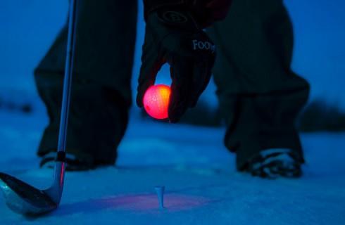 Снежный гольф в Лапландии