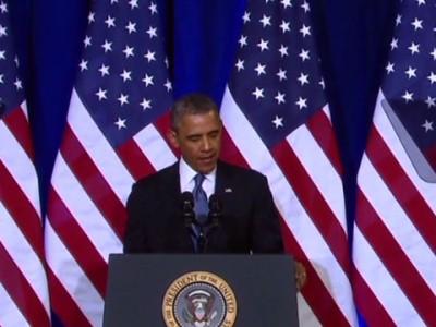 Барак Обама выступает в поддержку АНБ