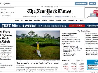 The New York Times провели редизайн своего веб-сайта