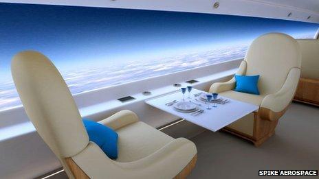 Самолеты будущего не имеют иллюминаторов