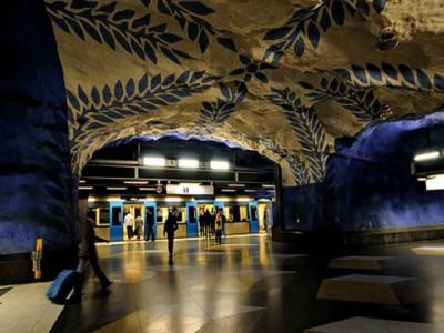 Красивые станции метро. Стокгольм