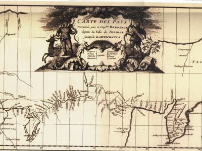 Карта путешествий Беринга