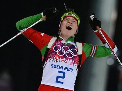 Дарья Домрачева стала трехкратным Олимпийским чемпионом Сочи-2014