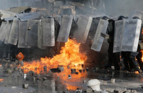 Киев в огне