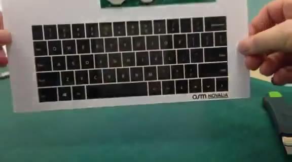 Тонкая бумага вместо клавиатуры