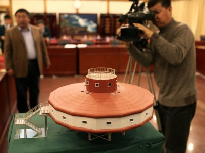 Тайшань. Макет новой китайской станции в Антарктиде