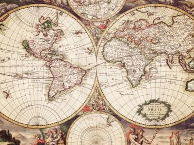 Бумажные карты. Карта старого мира