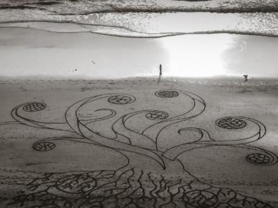 Рисунки на песке