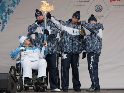 Паралимпийский огонь: Эстафета Паралимпийского огня во Владивостоке