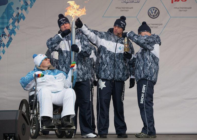 Паралимпийский огонь начал свой путь