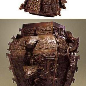 Бронзовый сосуд кубической формы «Король бронзового века»