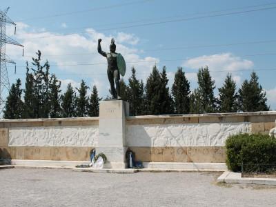 Памятник Царю Леониду и 300 спартанцам