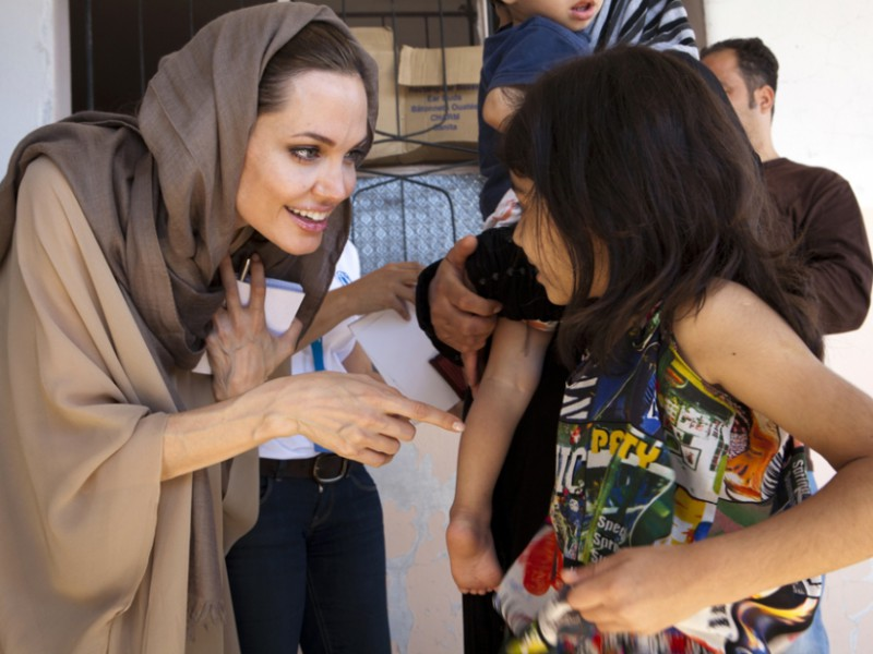 angelina jolies speech on the issue of syrian refugees