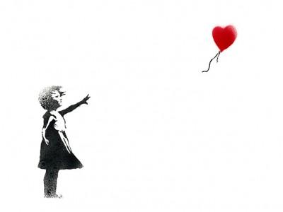 Новое творение Бэнкси «Девочка с воздушным шаром»