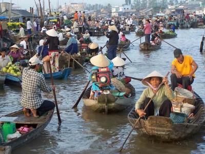 В дельте реки Меконг
