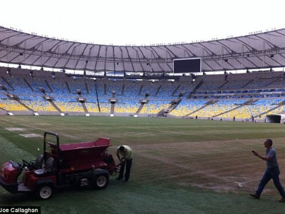 Подготовка стадиона в Марокана
