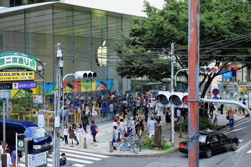 Apple смог удивить японцев
