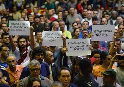 Забастовка рабочих в Бразилии
