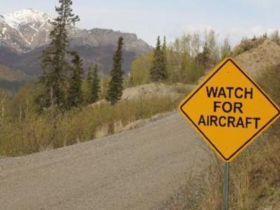 Дорожные знаки на Аляске