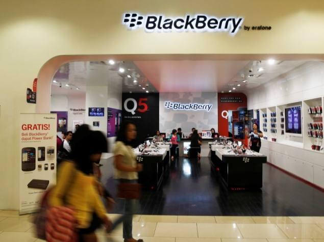BlackBerry покинул зону вылета