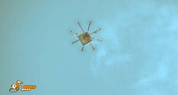 В России пиццу доставляют дронами-беспилотниками