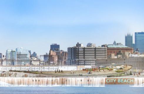 В Нью-Йорке появится парящий пляж