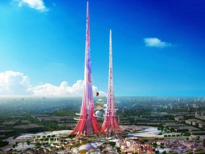 Розовая Эйфелева башня города Ухань