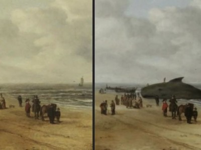 Нашли кита на картине «Вид песков Схевенингена»