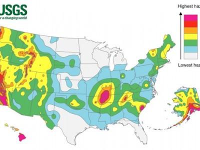 Сейсмологическая карта США