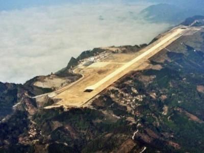 Взрывают горы для аэропорта Хечи