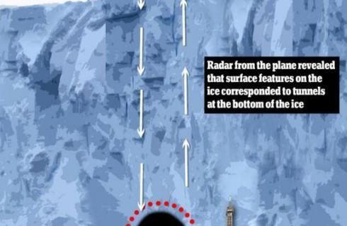 Антарктида скрывает подо льдом огромный туннель