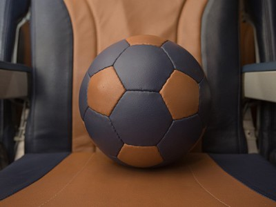 Кожаные мячи из чехлов