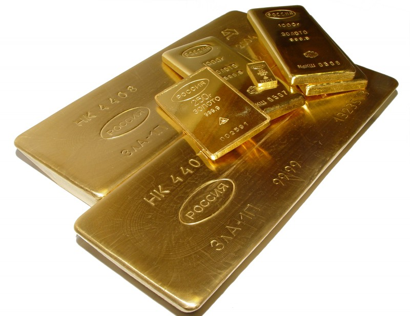 Россия занимает 6 место по объему золотого запаса