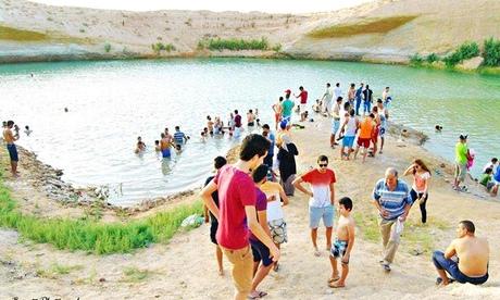 Таинственное озеро в Тунисе