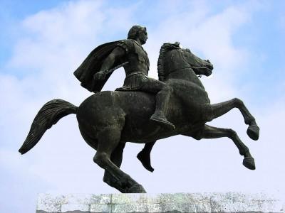 Памятник Александру Великому в Салониках (Греция)