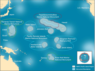 Бассейн в Тихом океане