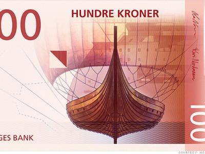 Норвежская крона: лицевая сторона банкноты