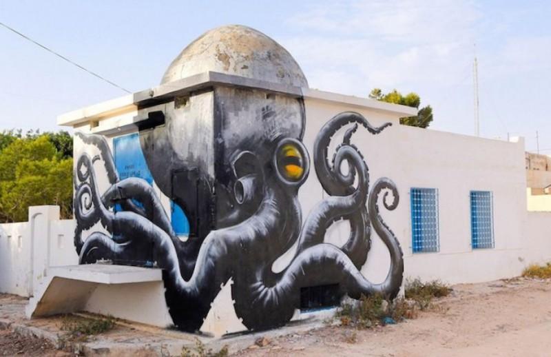 Граффити изменили древнюю деревню