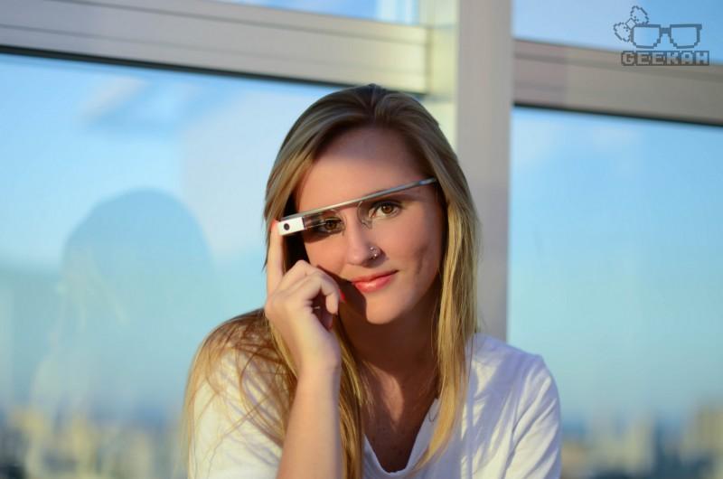Гарнитура Google Glass приступает к работе