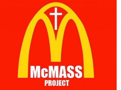 Кафе в церкви: логотип проекта McMass