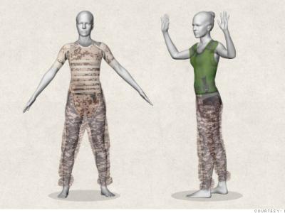 Женский бронежилет: 3-D модель