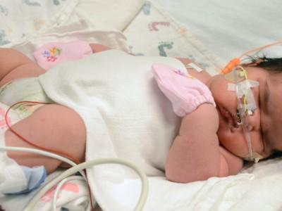 Ребенок-богатырь: Миа Ясмин Гарсия на второй день после рождения