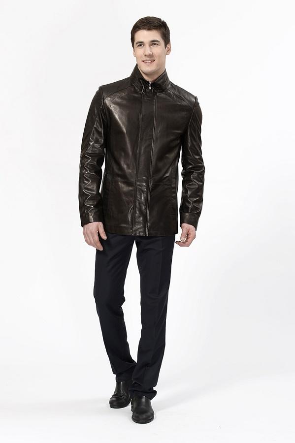 Мужская куртка из кожи сделать образ стильным поможет