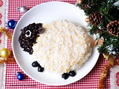 Вегетарианские блюда для новогоднего стола: вариант подачи риса