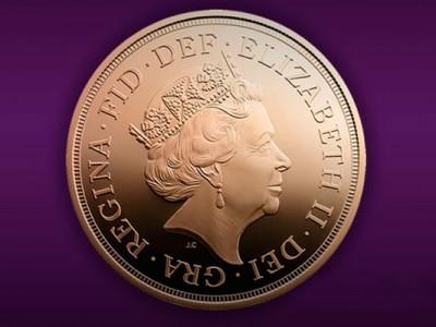 Изображение королевы Елизаветы II на монете